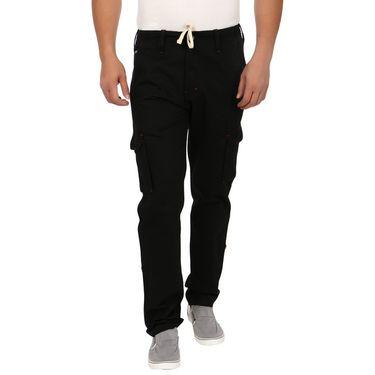 Pack of 2 Blimey Regular Fit Cotton Cargo _Bf29 - Brown & Black