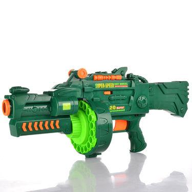 Kids Semi-auto Barrel Blaster Gun with 40 Soft Bullets