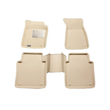 Branded 3D Car Bucket Tray Footmat For i-20 - Beige