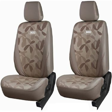 Branded Printed Car Seat Cover for Skoda Rapid - Beige