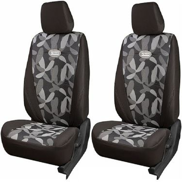 Branded Printed Car Seat Cover for Hyundai Accent - Grey