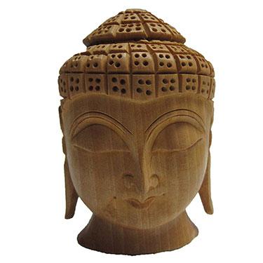 eCraftIndia Buddha Head - Brown
