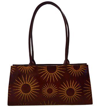 Arpera Genuine Leather Handbag C11447-2A -Brown