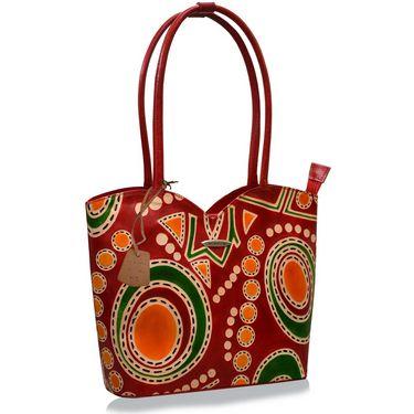 Arpera Genuine Leather Handbag C11478-3A -Red