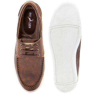 Randier Synthetic Leather Brown Casual Shoes -Cfl003