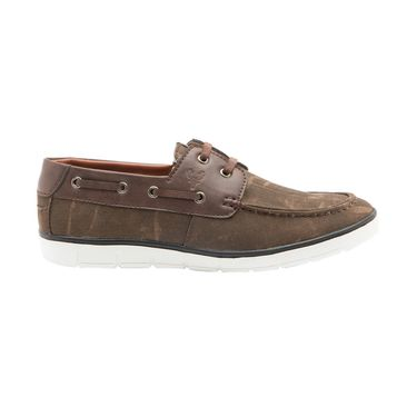 Randier Canvas Brown Casual Shoes -Cfl005