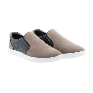 Randier Synthetic Leather Grey Casual Shoes -Cfl012