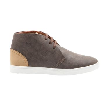 Randier Synthetic Leather Brown Sneakers Shoes -Cfl018