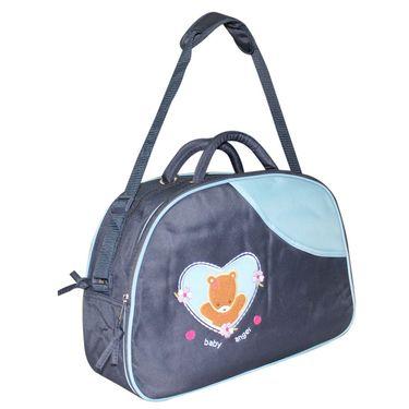 Wonderkids Teddy Print Baby Diaper Bag - Blue