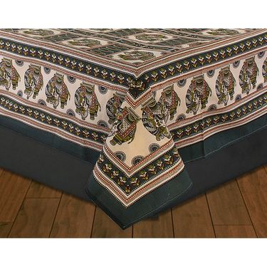 Set of 2 Sanganeri Printed Cotton Double Bedsheet with 4 Pillow Cover-CHFDBD102