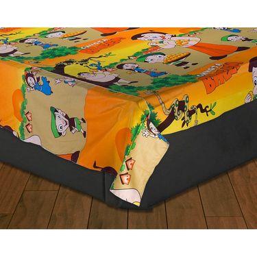 Set of 2 Chota Bheem and Beautiful Princess Kids Double Bedsheet with 4 Pillow Cover-CHFDBD112