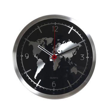 World Map Round Analog Wall Clock
