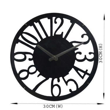Black Cut Design Round Analog Wall Clock