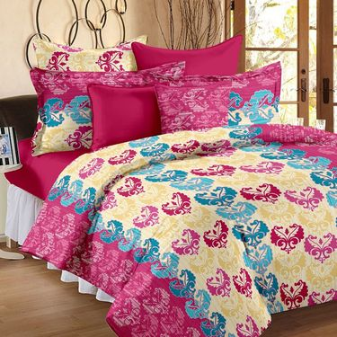 Storyathome 100% Cotton Double Bedsheet With 2 Pillow Cover-CN1222