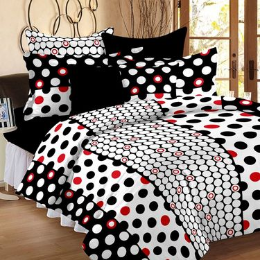 Storyathome 100% Cotton Double Bedsheet With 2 Pillow Cover-CN1227