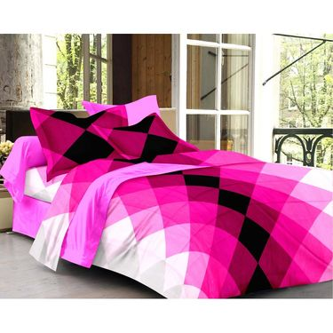 Storyathome 100% Cotton Double Bedsheet With 2 Pillow Cover-CN1270