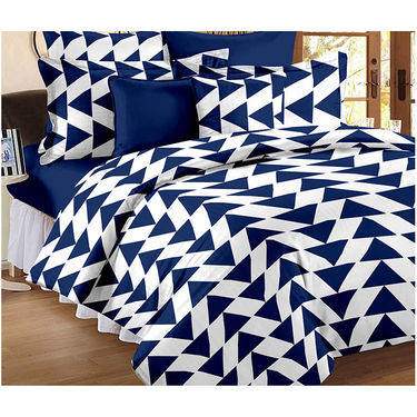 Set Of 2 Double Bedsheet With 4 Pillow Cover-CN_1227-CN1402