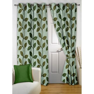 Storyathome 100% Cotton 1 Double Bedsheet Set,2 Pc Door Curtain,1 Pc Blanket & 2 Pc Hand Towel Combo-DNR2004