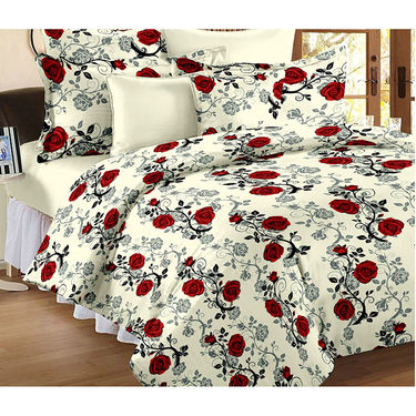 Set Of 2 Double Bedsheet With 4 Pillow Cover-CN_1401-CN1407