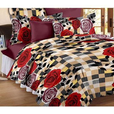 Set Of 2 Double Bedsheet With 4 Pillow Cover-CN_1403-CN1261