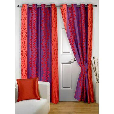 Combo of 100% Cotton Double Bedsheet, Blanket, Curtain Set & Door Mat-CN_1405