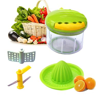 2 in 1 Veggie Cutter & Hand Juicer