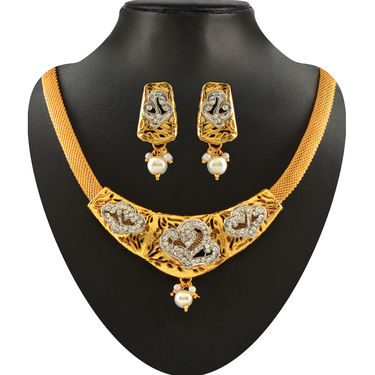 Colourful Exotic 1 Gram Gold Plated Jewellery - AKSO