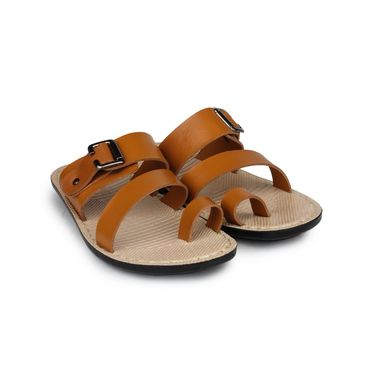 Columbus Synthetic Leather Tan Sandals -2512