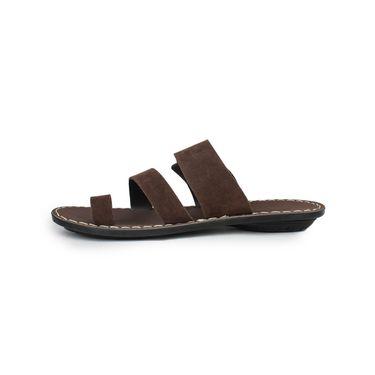 Columbus Suede Brown Sandals -2515
