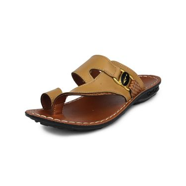 Columbus Synthetic Leather Beige Sandals -2607