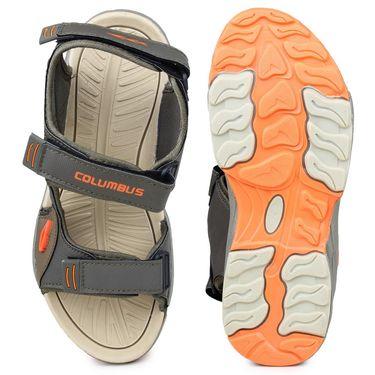 Columbus PU Cream Mehndi & Orange Floater -Ab-933