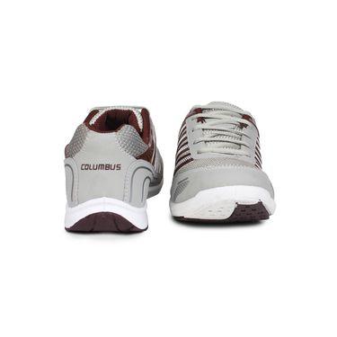 Columbus Grey & Maroon Sports Shoe C61
