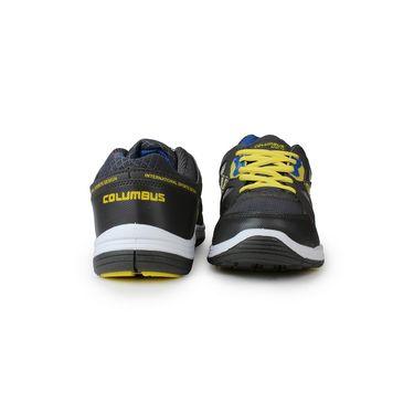 Columbus Grey & Blue & Yellow Sports Shoe C11