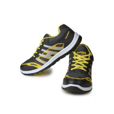 Columbus Grey & Yellow Sports Shoe C14