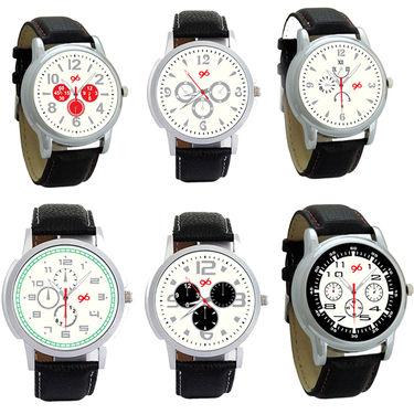 Pack of 6 Gledati Round Dial Men Watches_Gl136