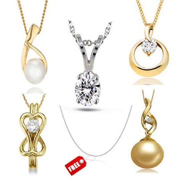 Combo of 5 Kiara Sterling Silver Pendents_C4