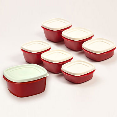 Set of 7 Cutting Edge Snap Tight Containers Maxi Range - Red