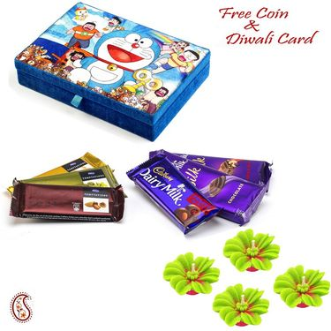 Aapno Rajasthan Blue Cute Doremon Chocolate Box