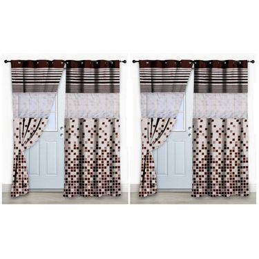 Storyathome Set of 2 Door curtain-7 feet-DCL_2-1003