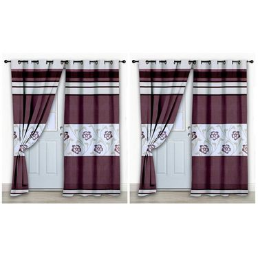Storyathome Set of 2 Door curtain-7 feet-DCL_2-1010