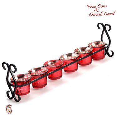 Beautiful Red Tea Light Holder