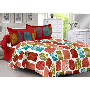 Valtellina 100% Cotton Double Bedsheet with 2 Pillow Cover-3015-A