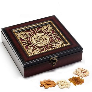 Ganapati Wooden Dry fruit Box for Diwali_DMB01