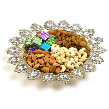 Crystal Stone Studded Fancy Dry fruits Bowl_DMB09