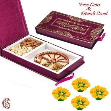 Aapno Rajasthan Premium Diwali Gift Box with Gat & Ganesh Motif Thali