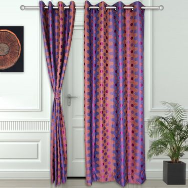 Story @ Home Violet 2 pc Door curtain-7 feet-DNR2076
