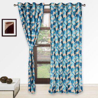 Story @ Home Blue 2 pc Door curtain-7 feet-DNR3063