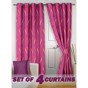 Set of 4 Printed Door curtain-7 feet-DNR_2_3025