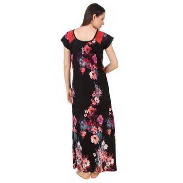Fasense Shinker Cotton Floral Print Long Nighty -DP180A2