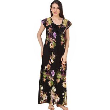 Fasense Shinker Cotton Floral Print Long Nighty -DP180C2